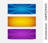 colorful comic style banners... | Shutterstock .eps vector #1689529693