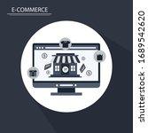 online shopping   e commerce... | Shutterstock .eps vector #1689542620