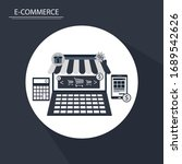 online shopping   e commerce... | Shutterstock .eps vector #1689542626