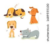 dogs collection. vector... | Shutterstock .eps vector #1689555100