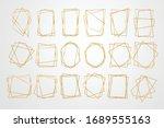 golden geometric frames.... | Shutterstock .eps vector #1689555163