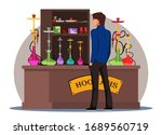 vector flat hookah shop or...   Shutterstock .eps vector #1689560719