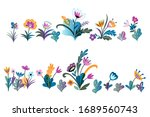 colorful wild early spring... | Shutterstock .eps vector #1689560743