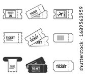 ticket icon set isolated on... | Shutterstock .eps vector #1689563959