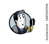 vector illustration of a retro... | Shutterstock .eps vector #1689565546