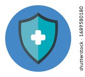 shield with cross in frame... | Shutterstock .eps vector #1689580180