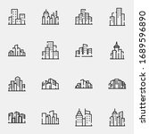 city  town  building icon set....   Shutterstock .eps vector #1689596890