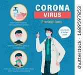 coronavirus prevention....   Shutterstock .eps vector #1689597853