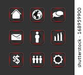 collection of icons with long...   Shutterstock .eps vector #168959900