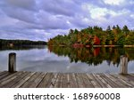 a day at the lake. dock... | Shutterstock . vector #168960008