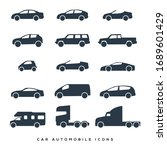 Car And Motorcycle Type Icons...