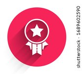 white medal with star icon... | Shutterstock .eps vector #1689602590