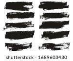 flat paint brush thin half... | Shutterstock .eps vector #1689603430