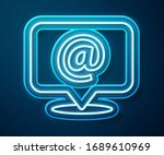 glowing neon line mail and e...   Shutterstock .eps vector #1689610969
