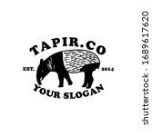 Tapir Animal Vector Logo Design