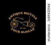 antique bicycle badge vector... | Shutterstock .eps vector #1689620566