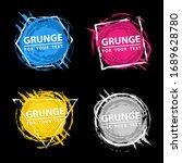 set of four grunge splash... | Shutterstock .eps vector #1689628780