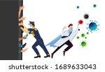 covid 19 novel coronavirus... | Shutterstock .eps vector #1689633043