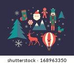 christmas vector illustration | Shutterstock .eps vector #168963350