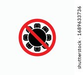 no meeting icon  do not meeting ... | Shutterstock .eps vector #1689633736