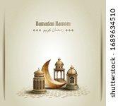 islamic greetings ramadan... | Shutterstock .eps vector #1689634510