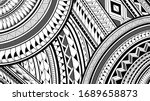 8k maori polynesian pattern... | Shutterstock . vector #1689658873