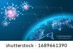 coronavirus epidemic. planet... | Shutterstock .eps vector #1689661390