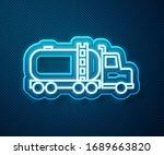 glowing neon line tanker truck... | Shutterstock .eps vector #1689663820
