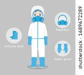 doctors character wearing in...   Shutterstock .eps vector #1689672289