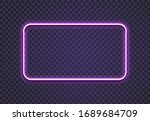neon rectangle. glow frame... | Shutterstock . vector #1689684709