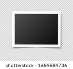 vintage photo frames. retro... | Shutterstock . vector #1689684736