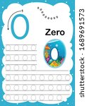 colorful number zero daily... | Shutterstock .eps vector #1689691573