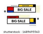 abstract geometric banner....   Shutterstock .eps vector #1689695563