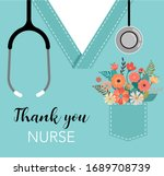 thank you  doctor and nurse  ... | Shutterstock .eps vector #1689708739