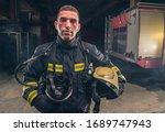 Portrait Of A Fireman Wearing...