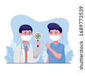 doctor wearing protective... | Shutterstock .eps vector #1689773539