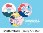 covid 19 precaution promo ... | Shutterstock .eps vector #1689778150