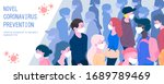 people wearing protective masks ...   Shutterstock .eps vector #1689789469