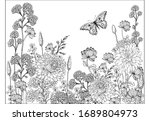 coloring pages for children and ... | Shutterstock .eps vector #1689804973
