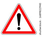 French Danger Triangle Sign ...