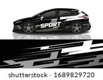 sports car wrapping decal design   Shutterstock .eps vector #1689829720