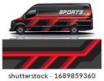 van car wrapping decal design | Shutterstock .eps vector #1689859360