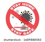 stay home  stay safe to stop... | Shutterstock .eps vector #1689888583