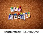 best practice   cut out letters ... | Shutterstock . vector #168989090