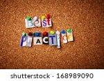 best practice   cut out letters ...   Shutterstock . vector #168989090
