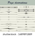 ornamental page dividers in... | Shutterstock .eps vector #1689891889
