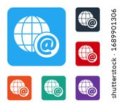 white earth globe with mail and ...   Shutterstock .eps vector #1689901306