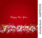new year lights background.... | Shutterstock . vector #168990230
