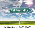signpost with net neutrality... | Shutterstock . vector #168991469