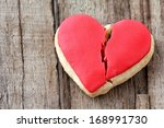 Cracked Heart Shaped Cookie...